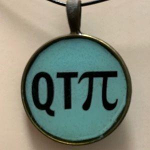 QTπ (QT Pi) aka Cutie-Pi [Pi=3.14...] Necklace
